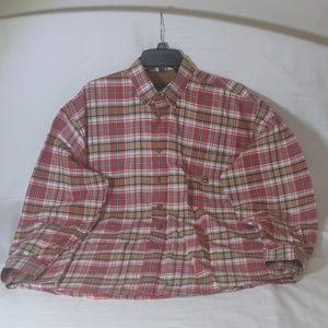 Cinch Button Up Plaid Shirt